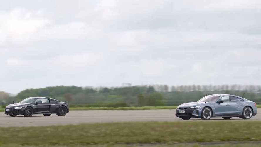 Audi RS e-tron GT contra Audi R8: electricidad contra gasolina