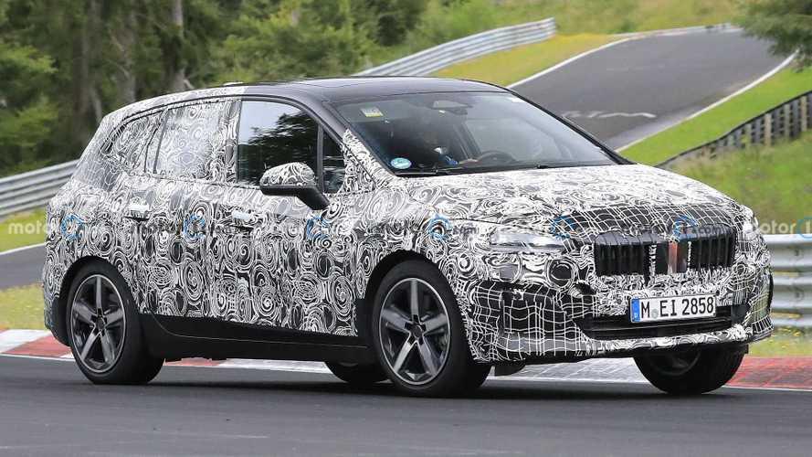 BMW 2 Series Active Tourer spy pics capture hatch at Nurburgring