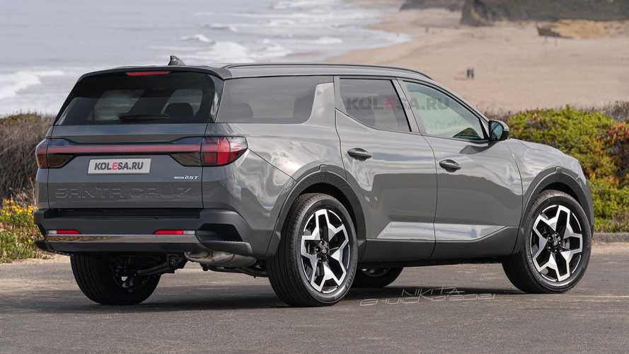 Rendering SUV Hyundai Santa Cruz