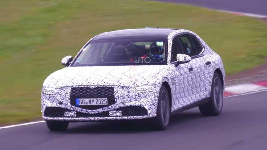 Genesis G90 spied on video looking stately at the Nurburgring