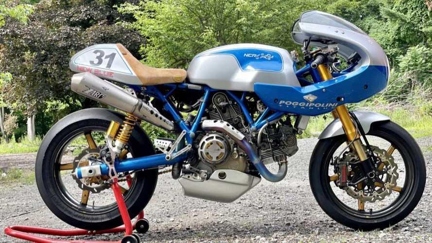 Dijual Motor Nomor 1 dari 50 Ducati-NCR New Blue, Segini Harganya