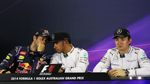 Daniel Ricciardo (AUS), Lewis Hamilton (GBR) and Nico Rosberg (GER), 15.03.2014, Australian Grand Prix, Albert Park, Melbourne, Qualifying Day / XPB