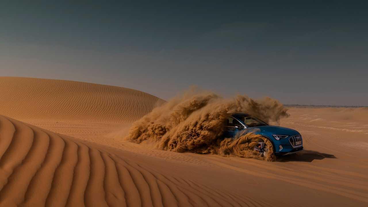 Audi e-tron abu dhabi test