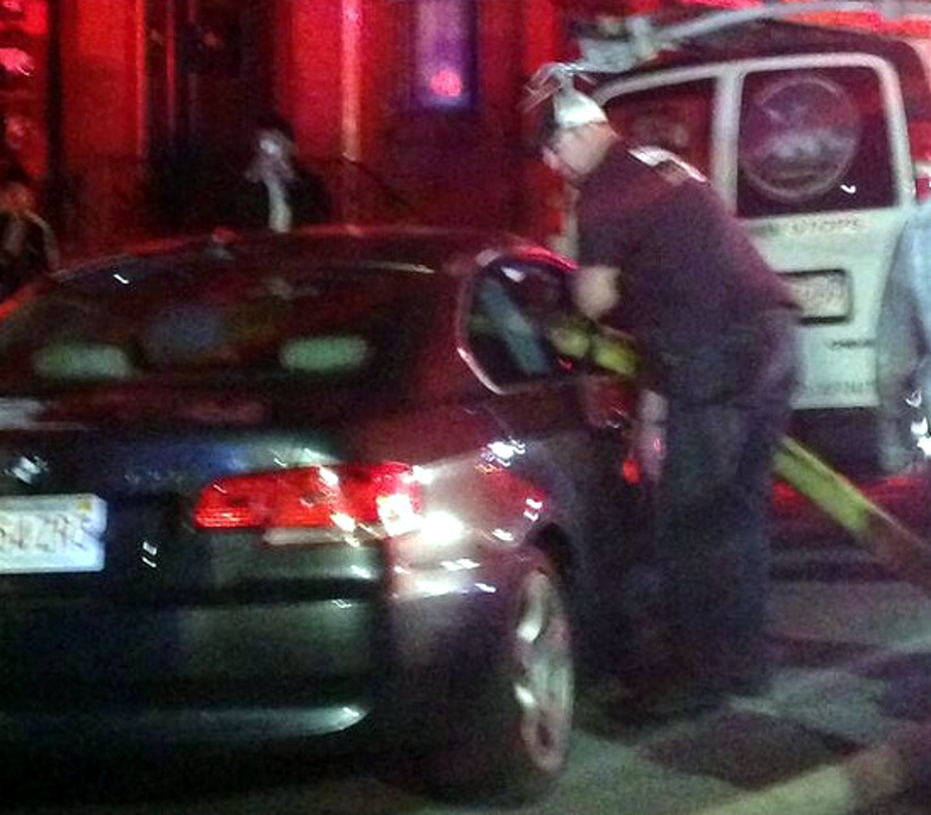 BMW Blocks Hydrant, Boston Firefighters Go Right Through It
