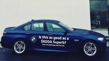 Skoda dealer offers comparison test between Superb and 5 Series