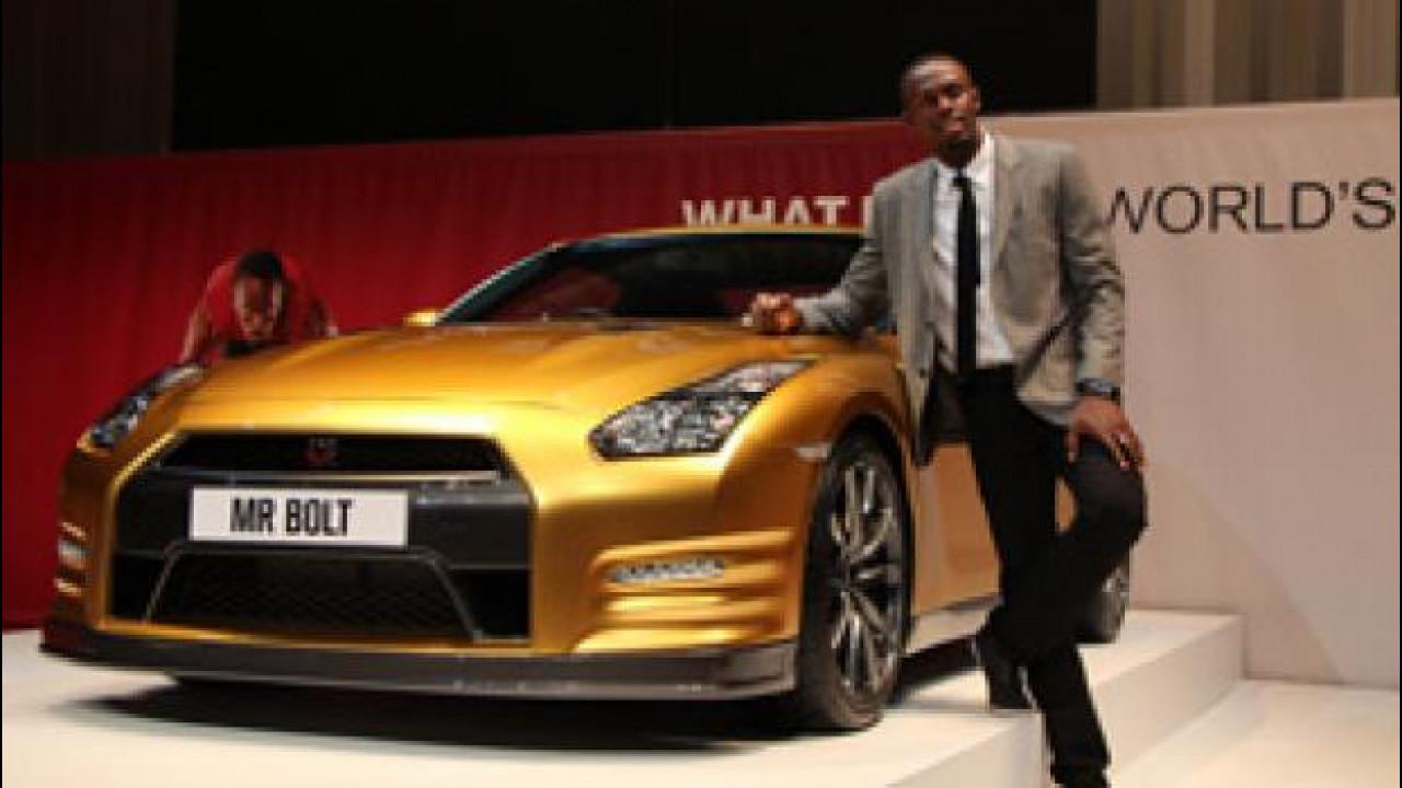 [Copertina] - Nissan GT-R, quella dorata è in onore di Usain Bolt