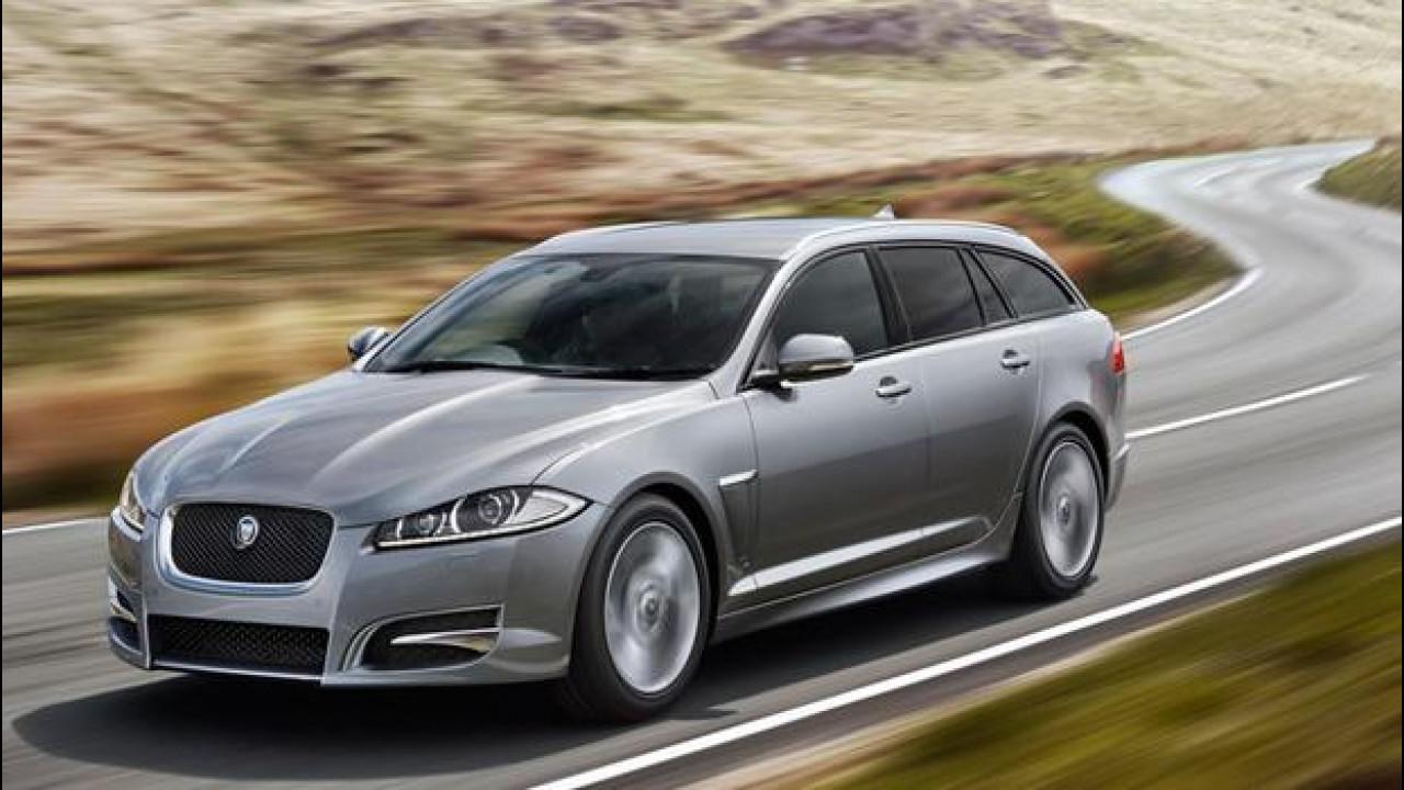 [Copertina] - Le Jaguar XF 2015 fanno sport a Ginevra, non solo in auto