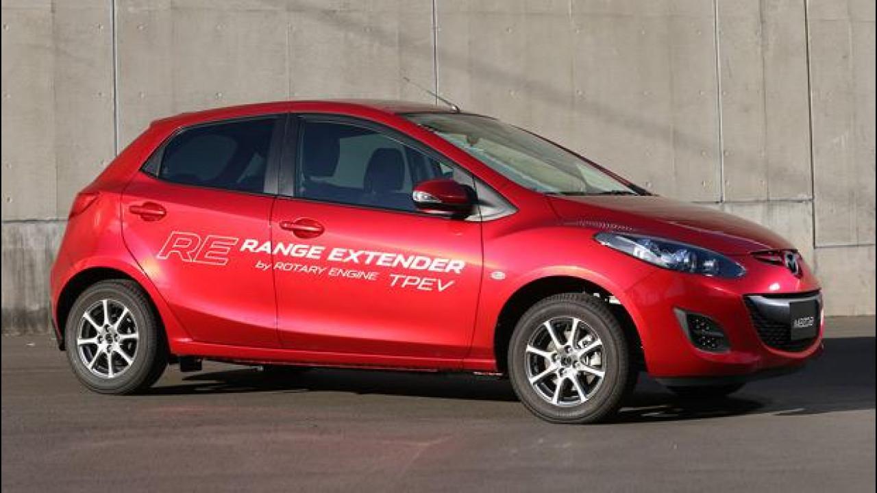 [Copertina] - Mazda2 EV Range Extender, elettrica e rotativa