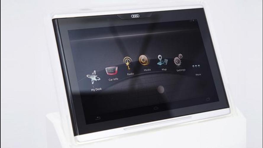 Audi e Google creano il primo tablet integrato nell'auto