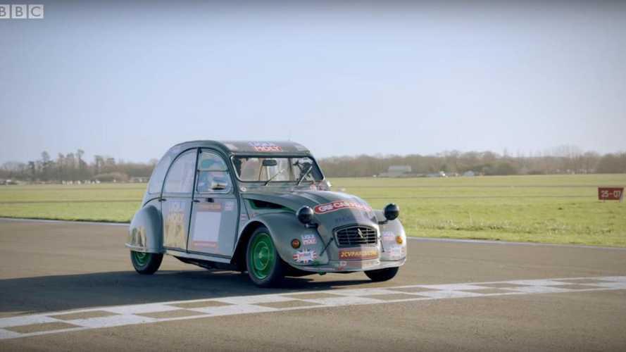 Citroën 2CV versus the Top Gear test track