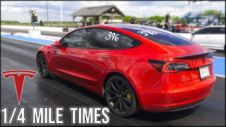 Tesla Model 3 Performance & Model S Raven 1/4-mile track tests