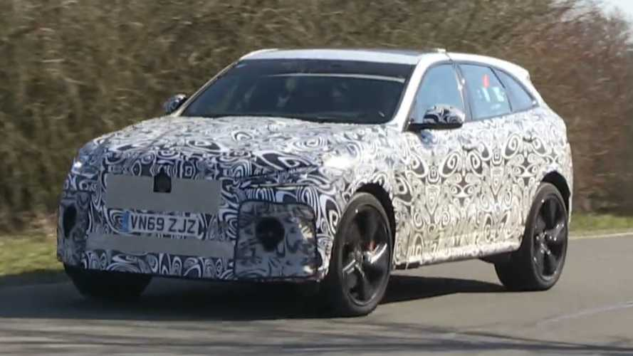 Jaguar F-Pace SVR spied playing its V8 symphony at Nurburgring