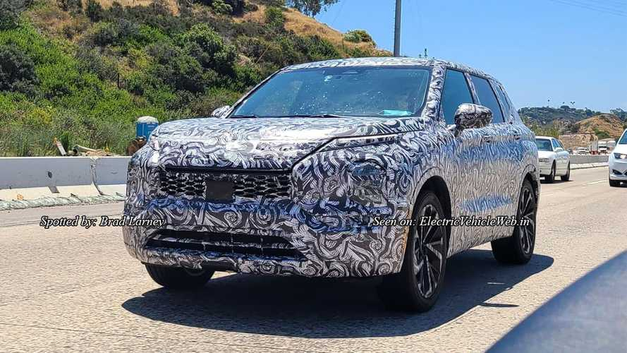 Next Mitsubishi Outlander Spied Up Close Hiding New Look