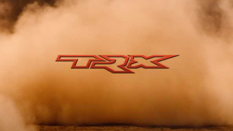 2021 Ram TRX Teaser Shows The Tough Truck Kicking Up Sand
