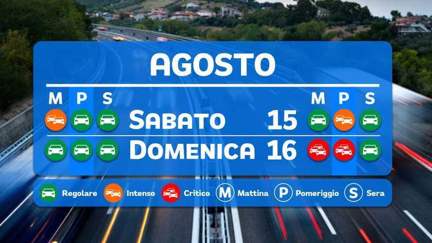 Le previsioni del traffico per il weekend di Ferragosto