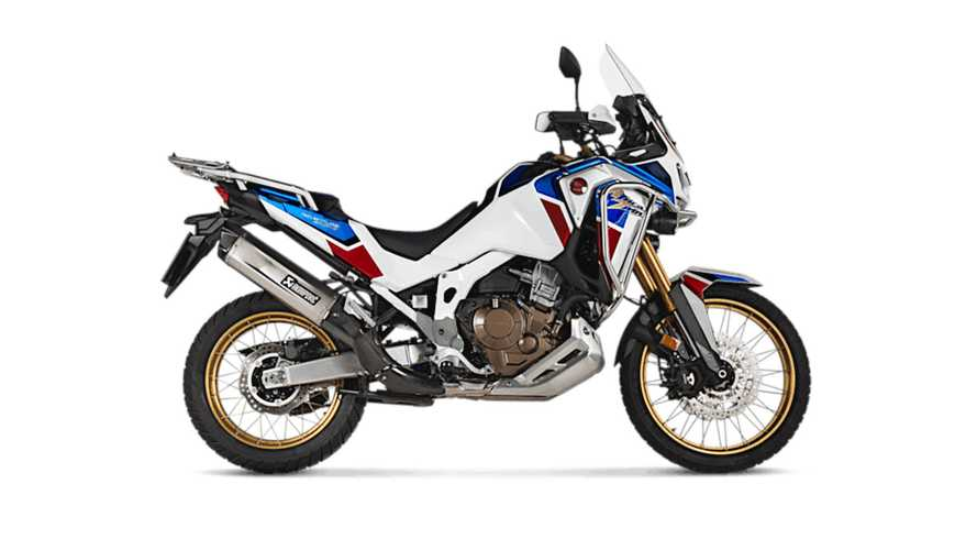 Akrapovič Titanium Slip-On Exhaust for 2020 Honda CRF1100L Africa Twin