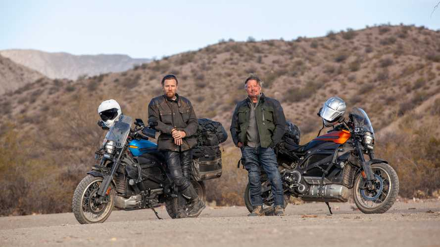Юэн Макгрегор проехал 21 000 км на электробайке (помог Rivian)