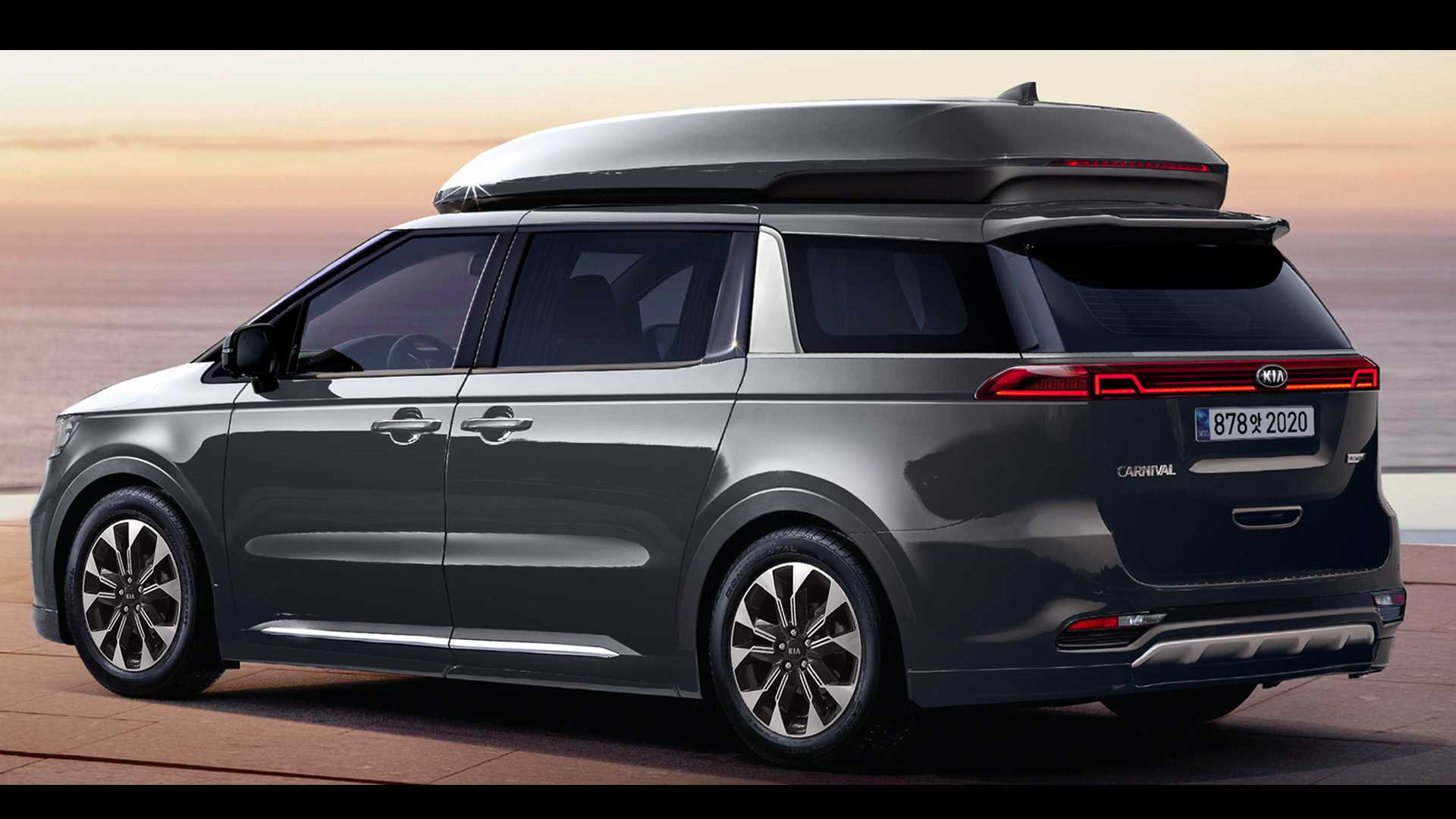 2021 kia sedona renderings preview an edgy minivan
