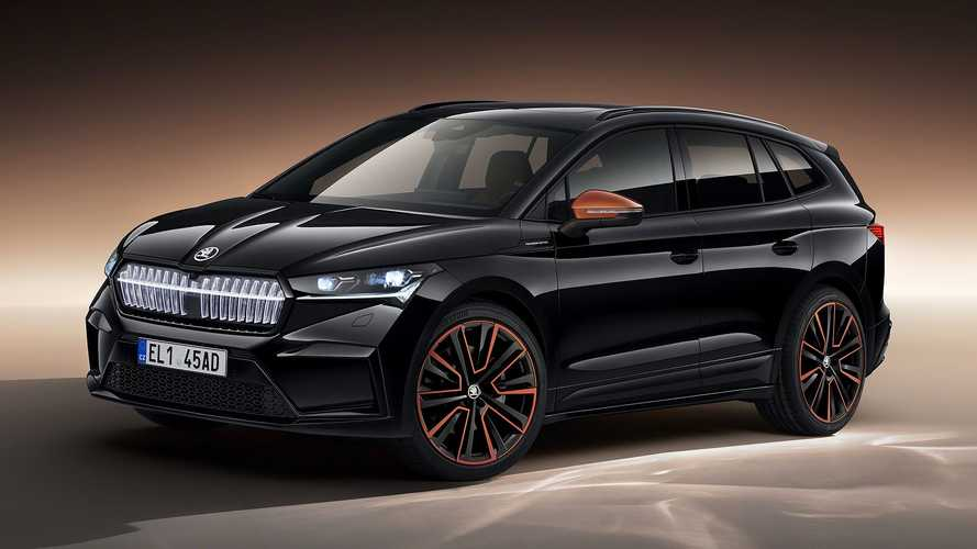 Skoda Enyaq iV revealed with illuminated grille and potent RS version