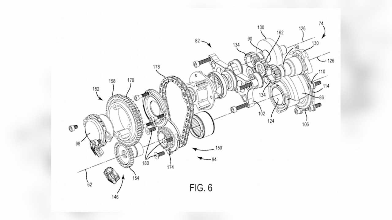 Harley-Davidson Engine Balancer Patent - Exploded View