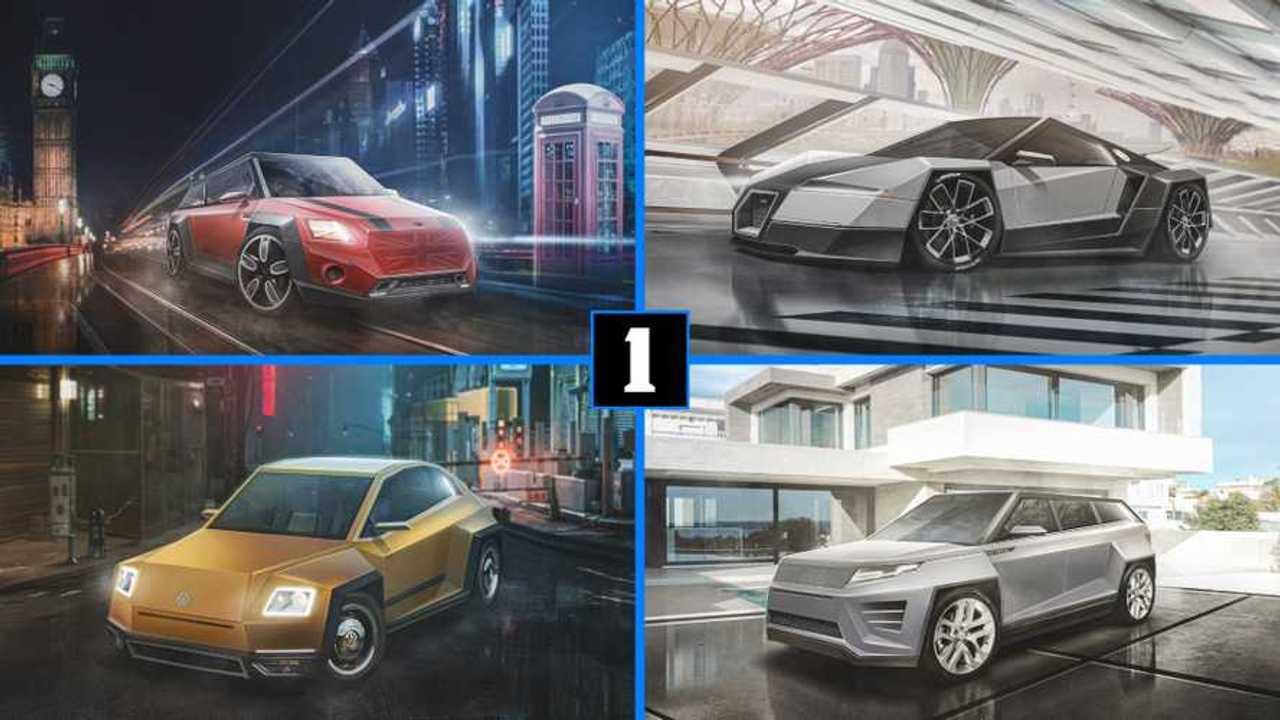 Tesla Cybertruck-Inspired Renderings