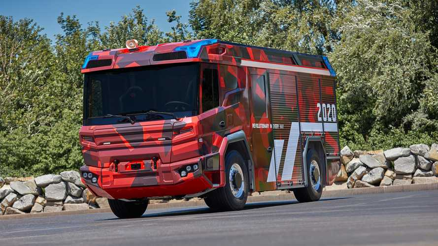 This might be the first commercial electrified fire engine