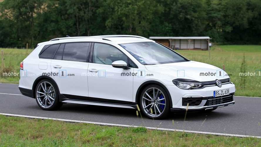 Volkswagen Golf R Estate Spied Wearing An Alltrack Suit
