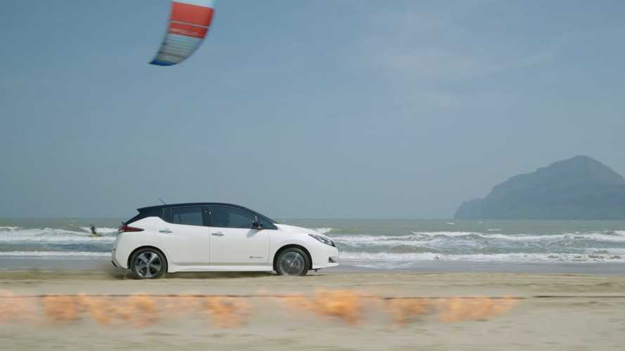 Nissan LEAF Challenges Mother Nature, Outpacing Fire And Wind