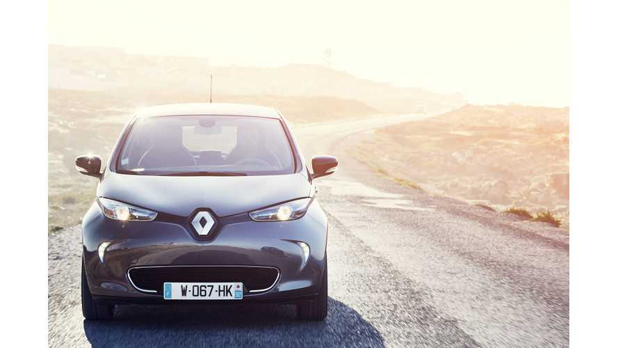In Q1 2017 Renault ZOE Sales Were Up 57%, Looking For 40K By Year's End