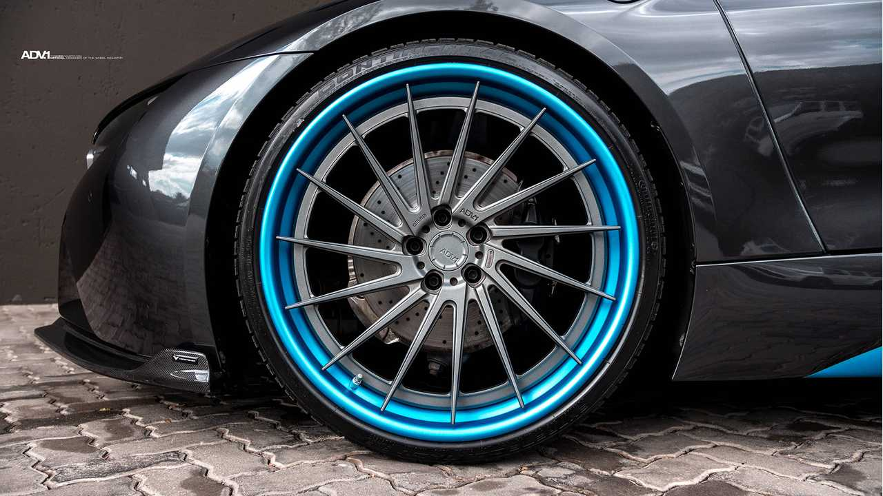 Bmw I8 Custom Wheels Blue Lips Electric Car Rims T