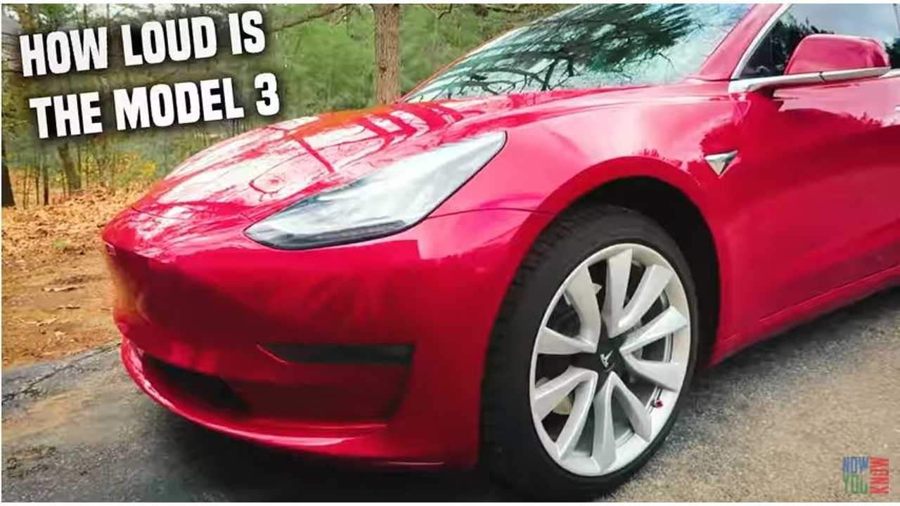 Sounds Levels Compared - Tesla Model 3, Model X, Honda Civic