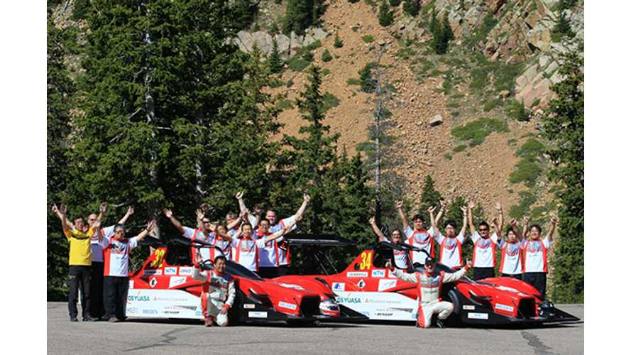 Mitsubishi MiEV Evolution III Leads Electric Modified Division Qualifications At 2014 Pikes Peak