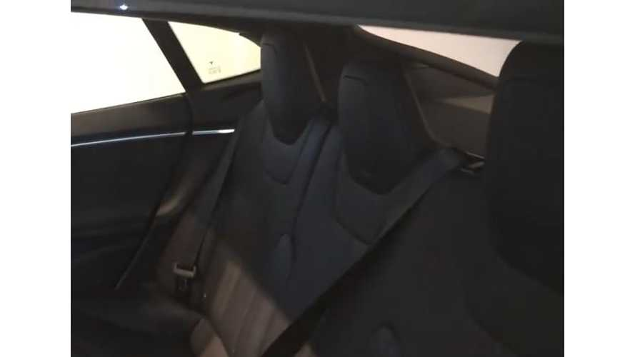 Tesla Model S New Generation Rear Seats Offer Much Improved Headroom - Video