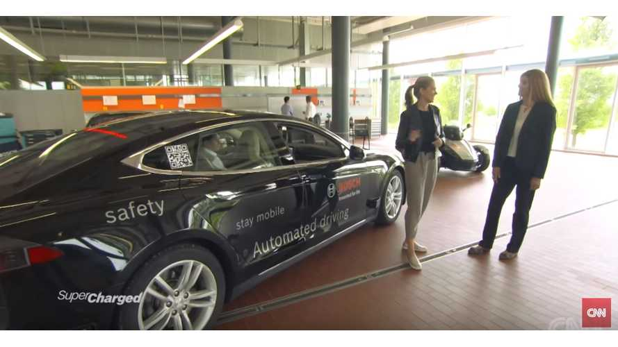Tesla Model S Outfitted With Bosch Autonomous Driving Sensors - (w/video)