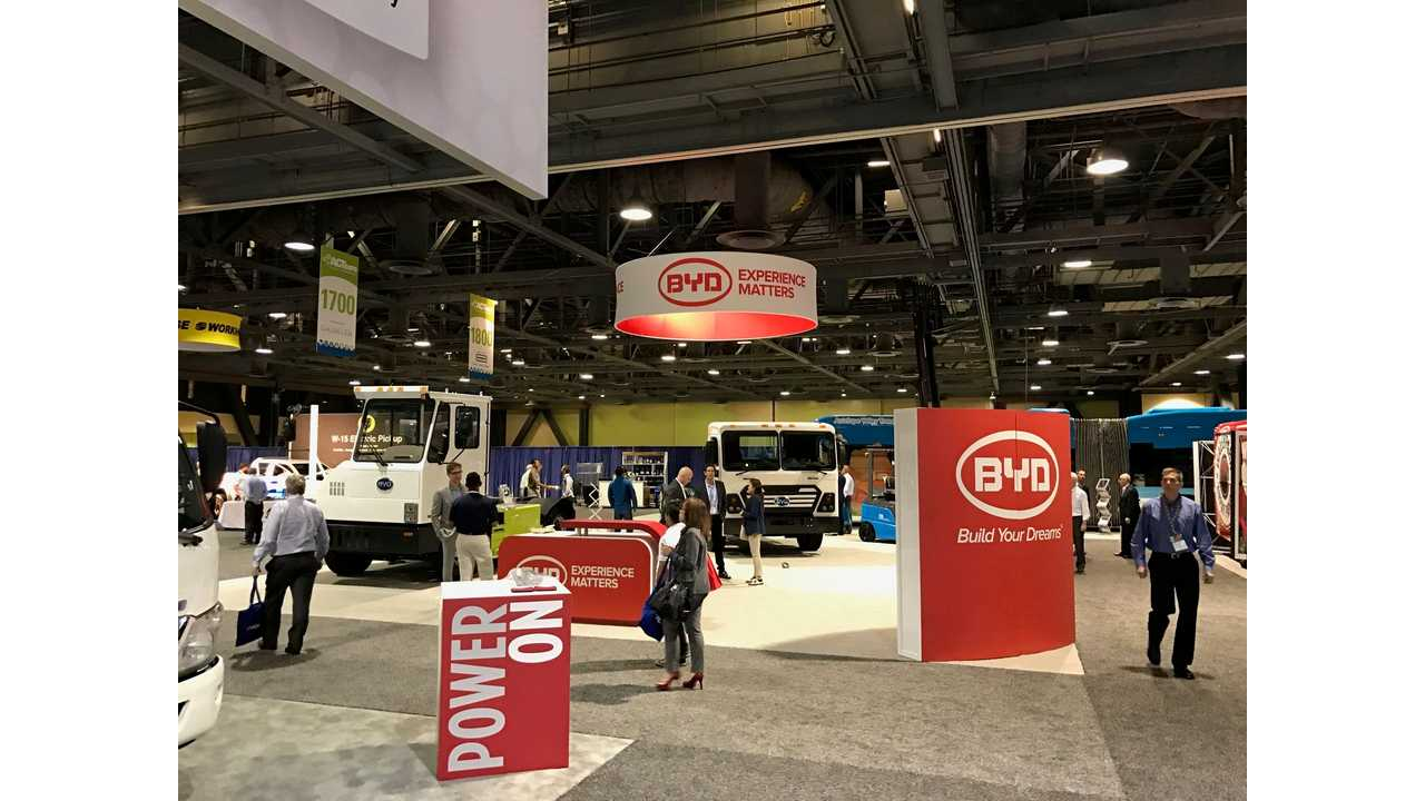 BYD EVs at the 2017 Advanced Clean Transportation Expo