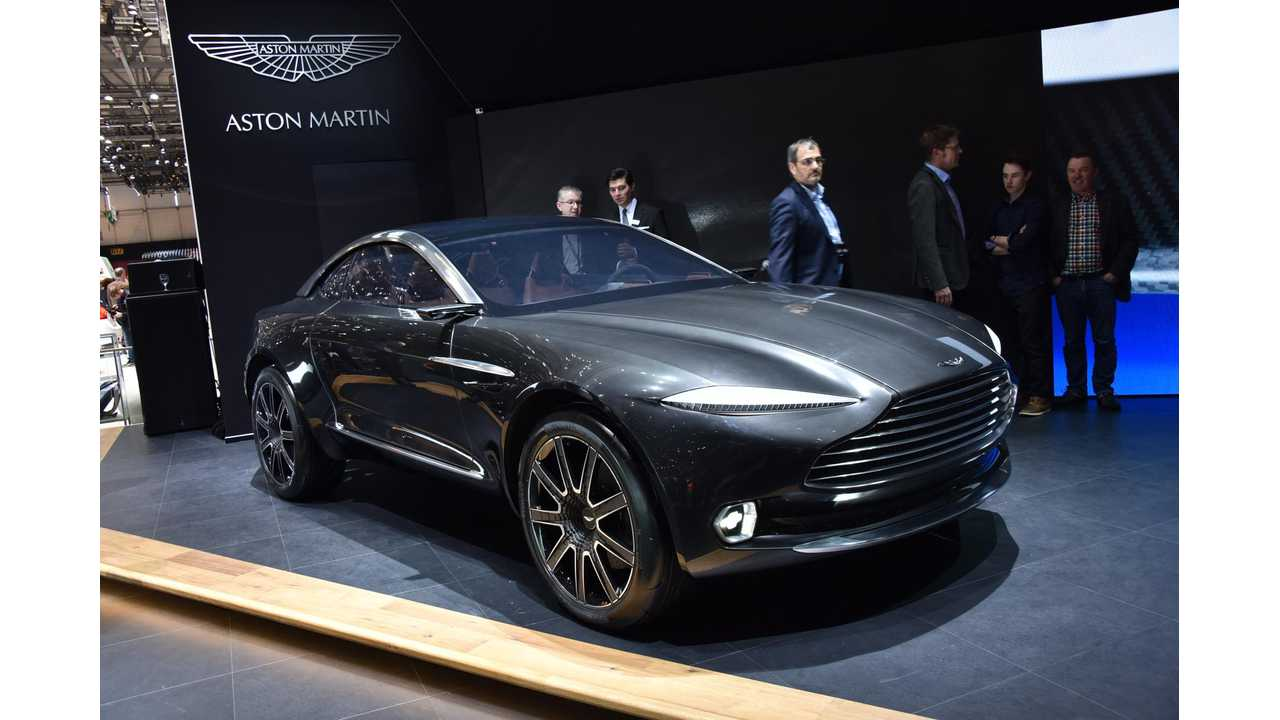 The Aston Martin DBX(shown here in concept form) Will Arrive In 2019 - As A Plug-In Hybrid First, Followed By Both A Petrol And An All-Electric Version