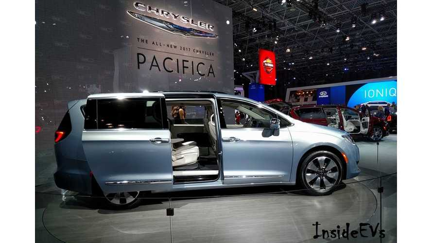 General Chrysler Pacifica Hybrid Bests Estimates Now 33 Miles Range 84 Mpge City