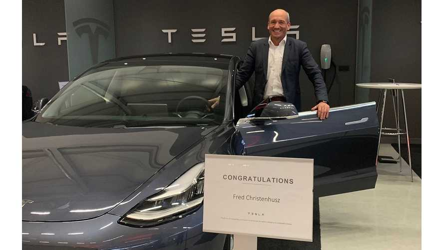 First-Ever Tesla Model 3 Delivered In Europe