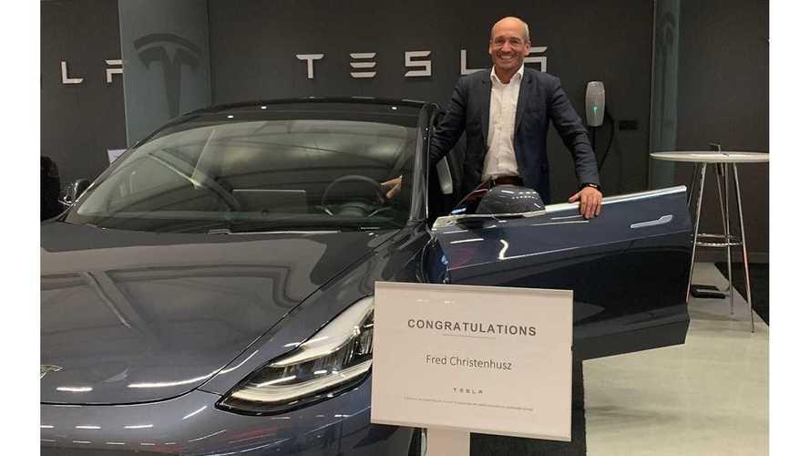 First-Ever Tesla Model 3 Delivered In Europe
