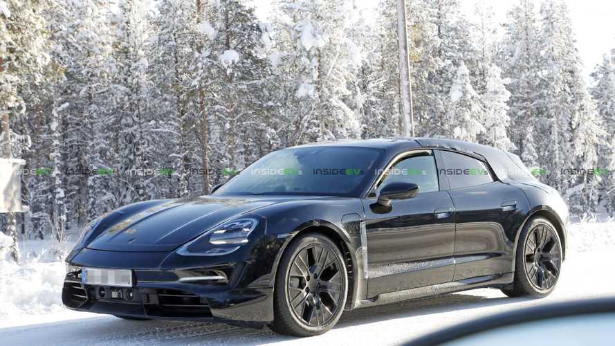 Porsche Taycan Turismo Electric Wagon Spied Winter Testing