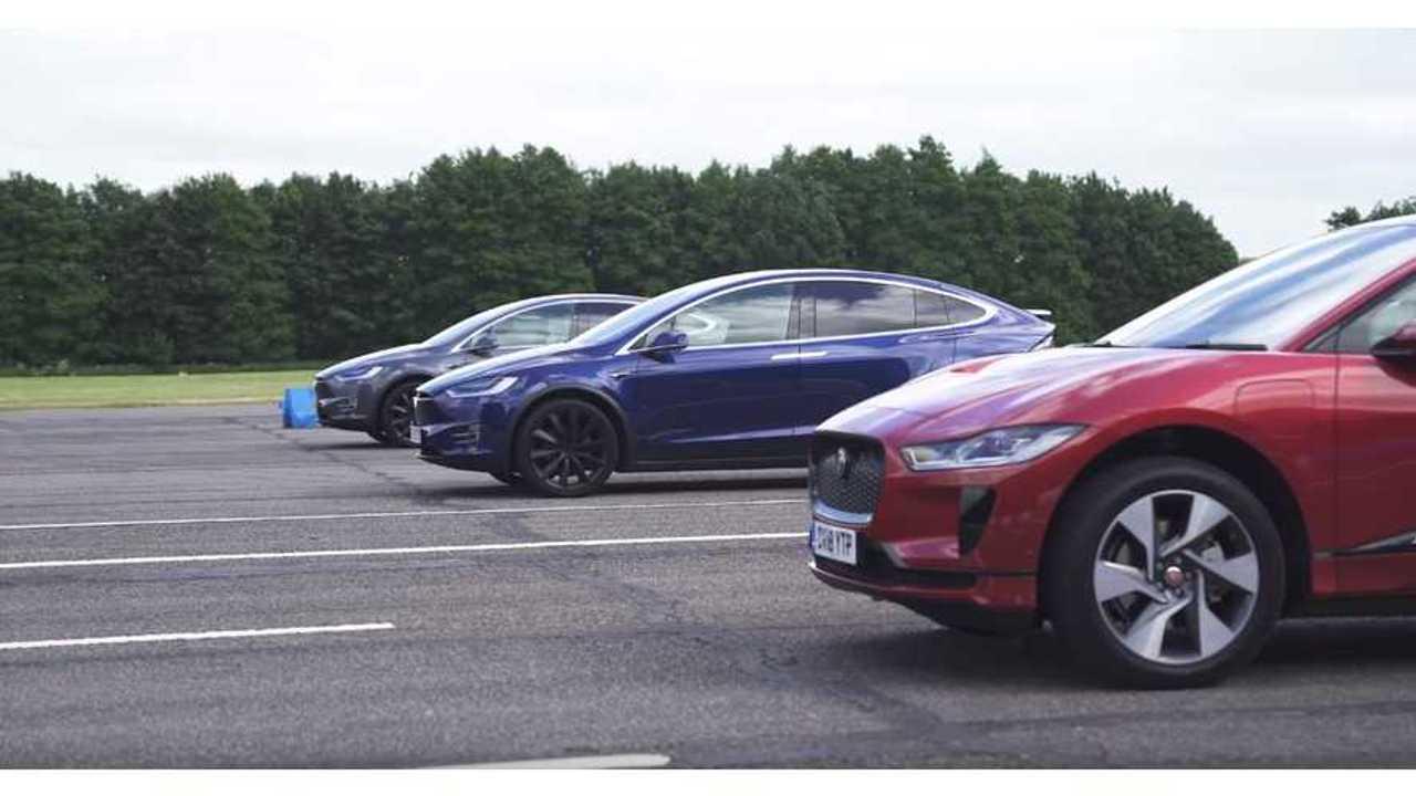 Watch Jaguar I-Pace Race Tesla Model X 100D & P100D