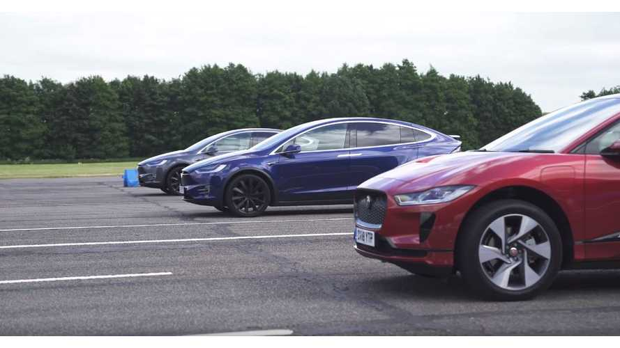 Watch Jaguar I-Pace Race Tesla Model X 100D & P100D