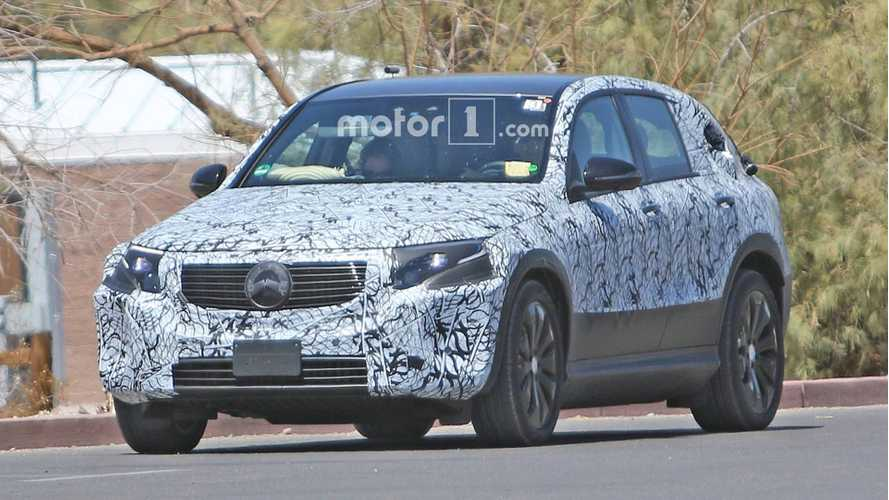 Mercedes-Benz EQ C Spied Showing Smooth Lines While Charging