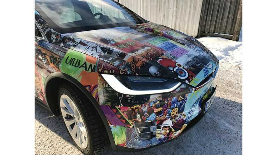 Check Out This Funky Tesla Model X In Finland!