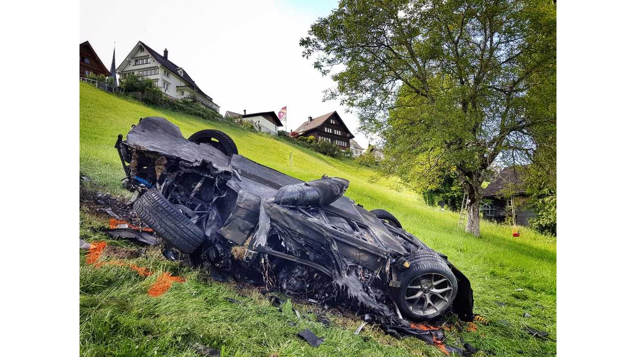 Remains of a Rimac Concept One (1 of only 8)
