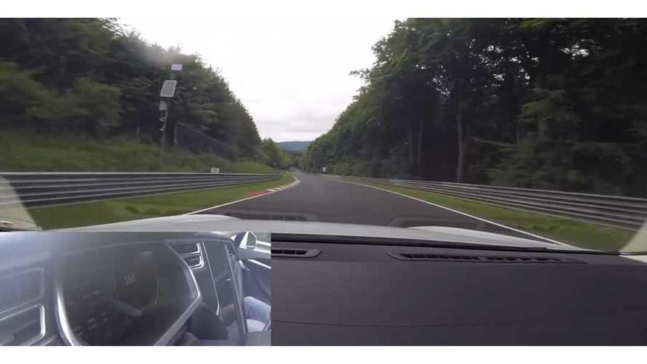 Tesla Model S P85 Nurburgring