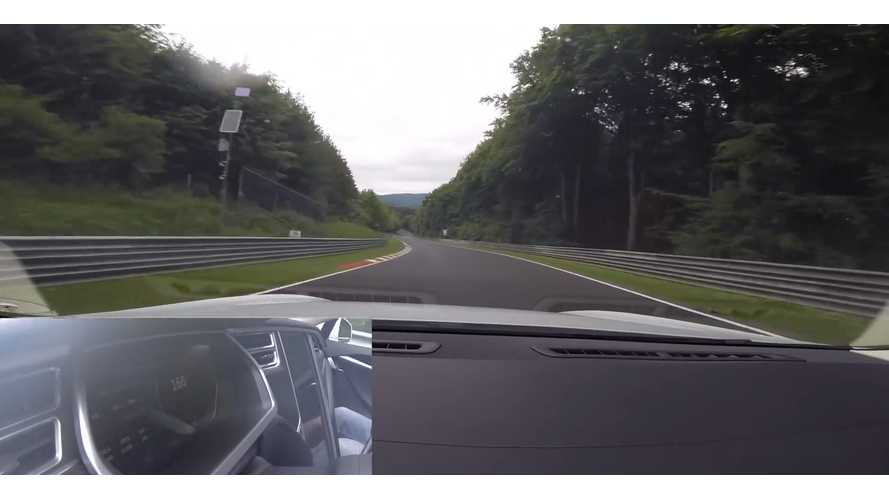 Tesla Model S P85 Laps Nurburgring - Video