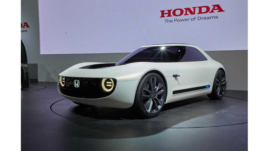 Honda Sports EV Concept From The Stage In Tokyo - Photos & Live Videos