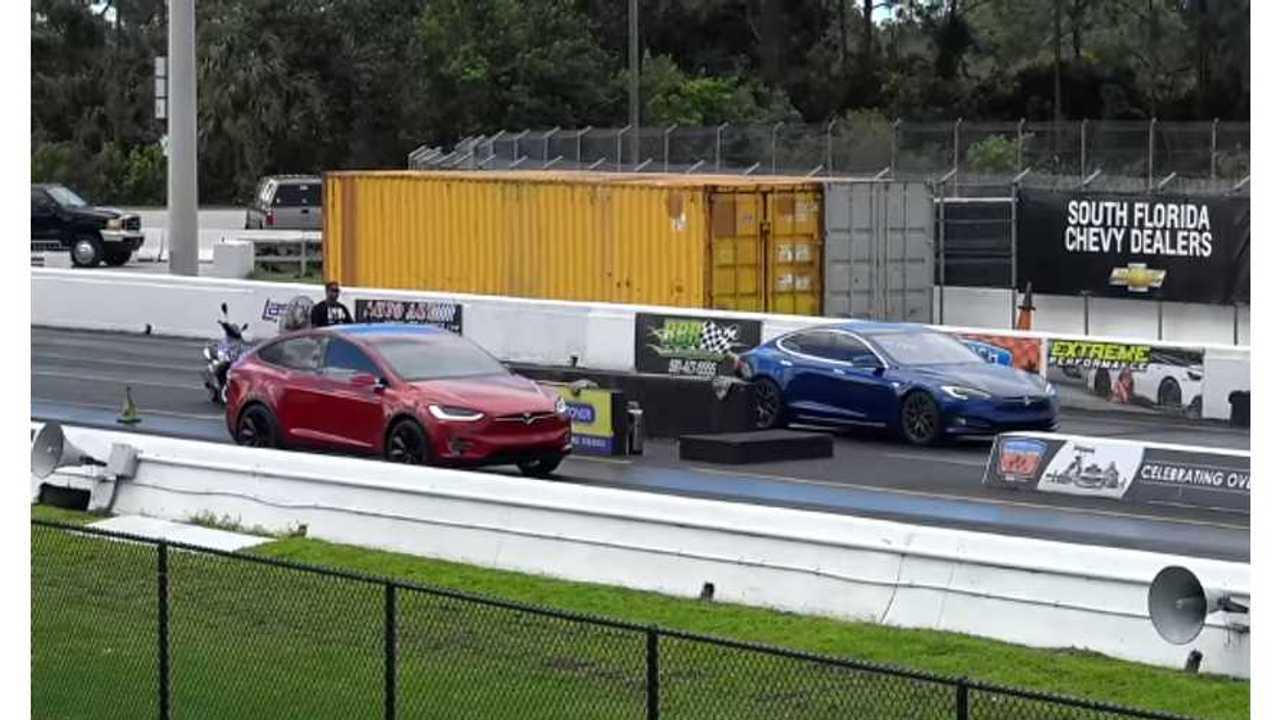 Tesla Model S P100D Versus Model X P90D