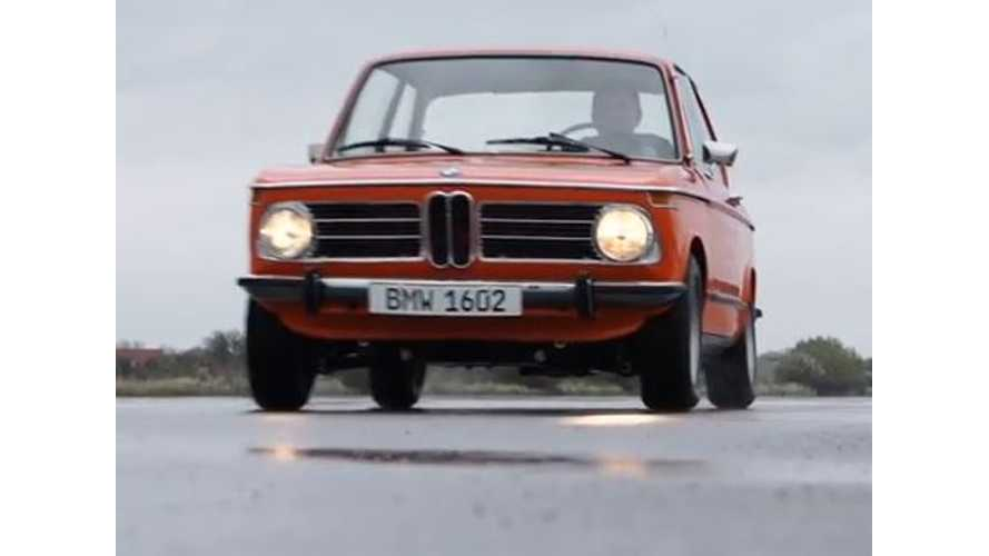 1972 BMW 1602e - Automaker's First Electric Car - Video